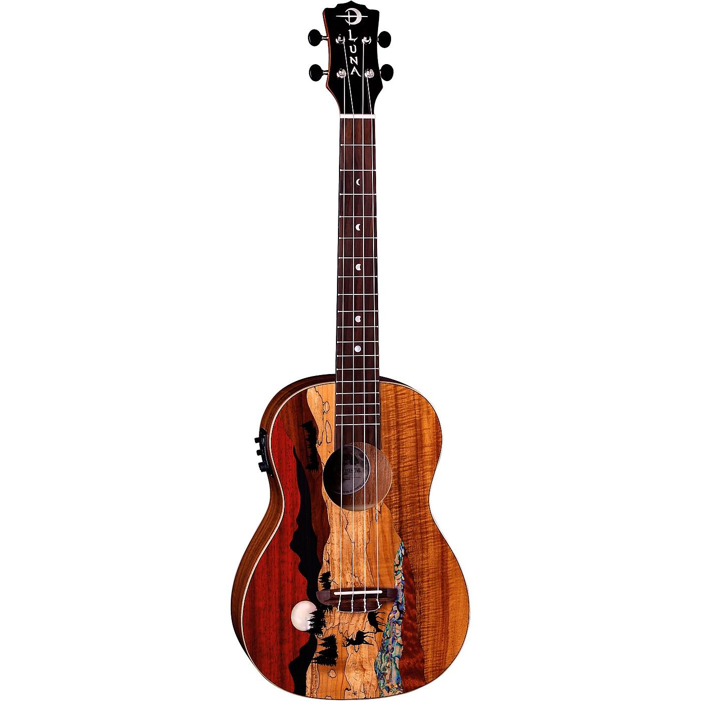Luna Guitars Vista Deer Baritone Acoustic-Electric Ukulele thumbnail