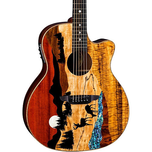 Luna Guitars Vista Deer Tropical Wood Acoustic-Electric Guitar thumbnail