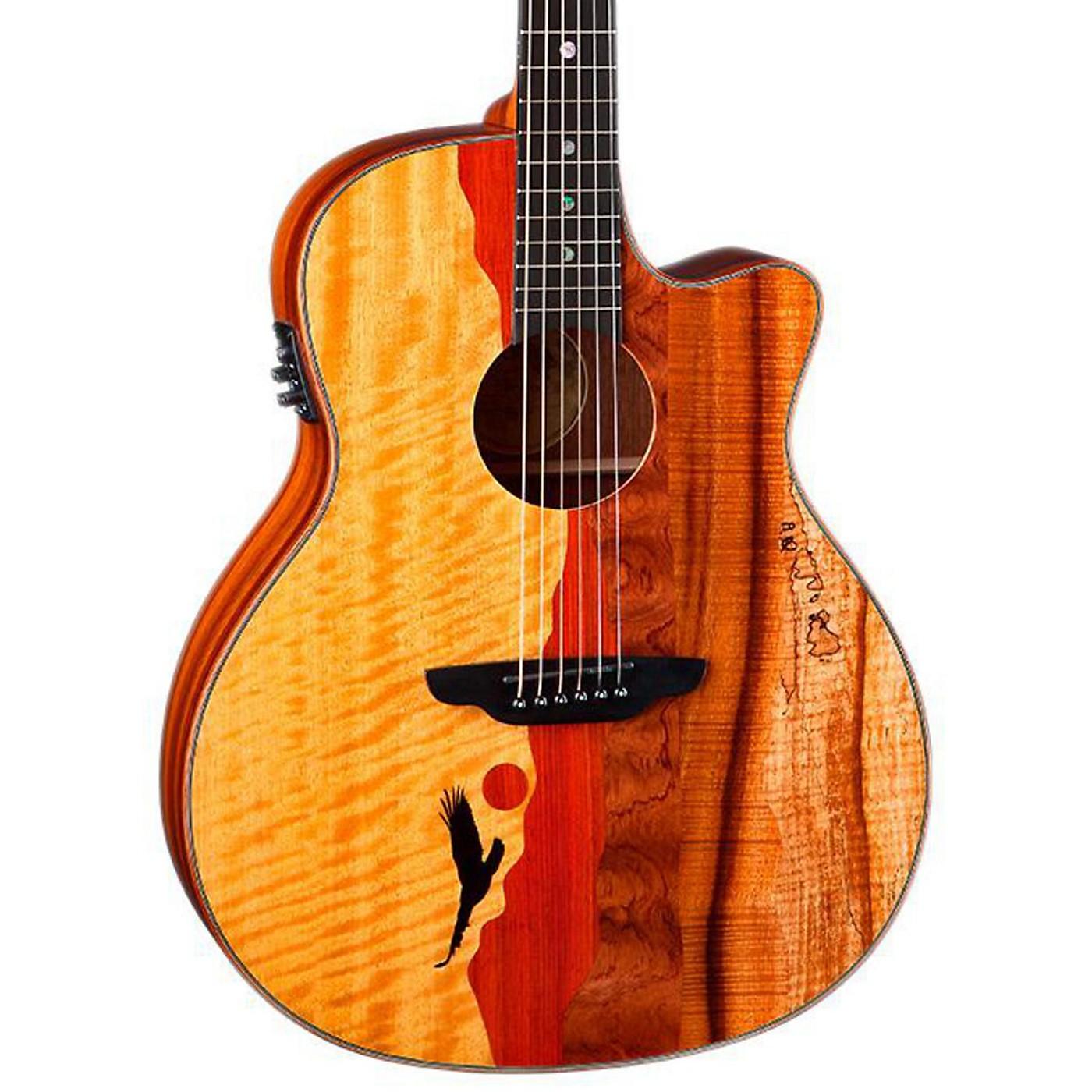 Luna Guitars Vista Eagle Koa Back and Sides Acoustic-Electric Guitar thumbnail