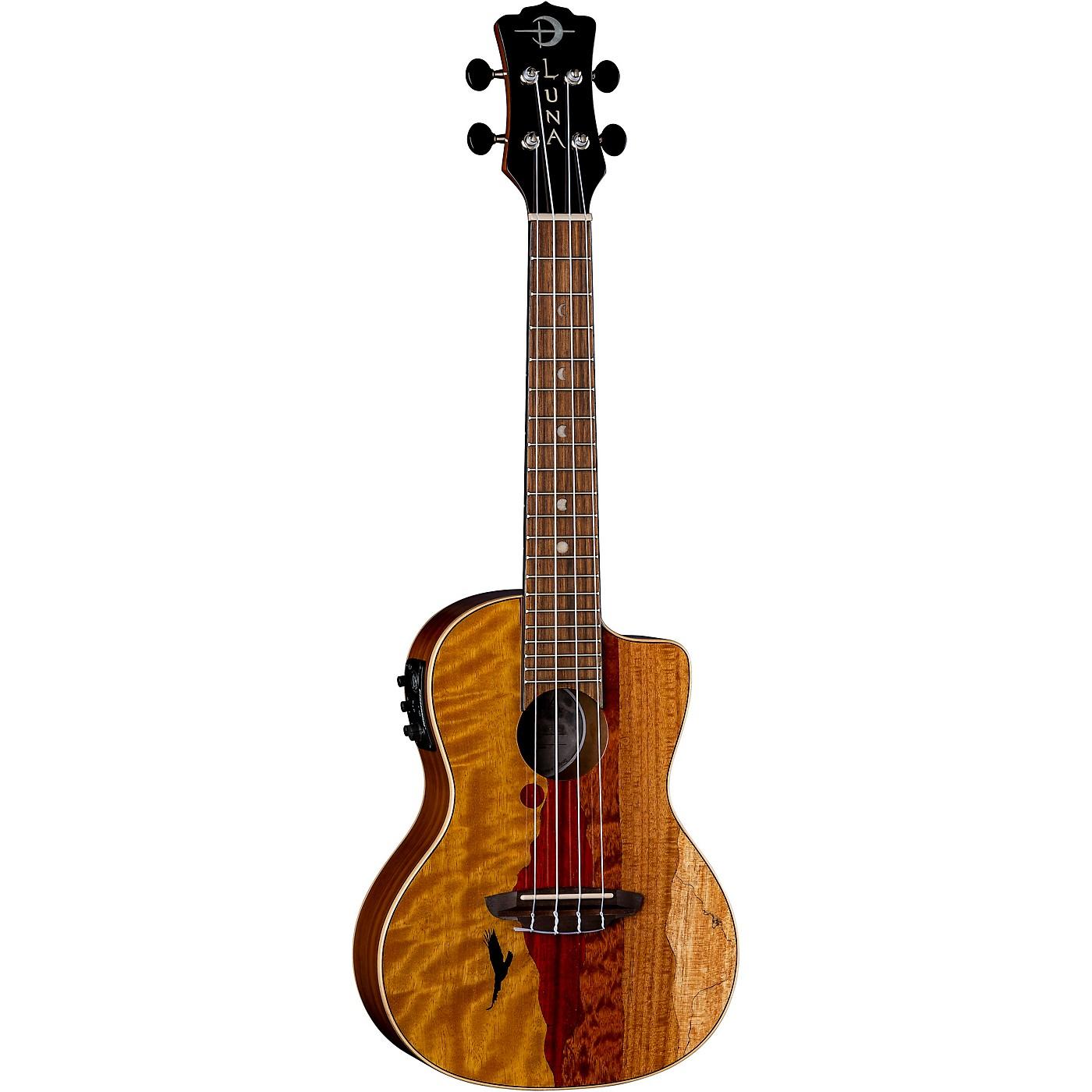 Luna Guitars Vista Eagle Tropical Wood Concert Acoustic-Electric Ukulele thumbnail