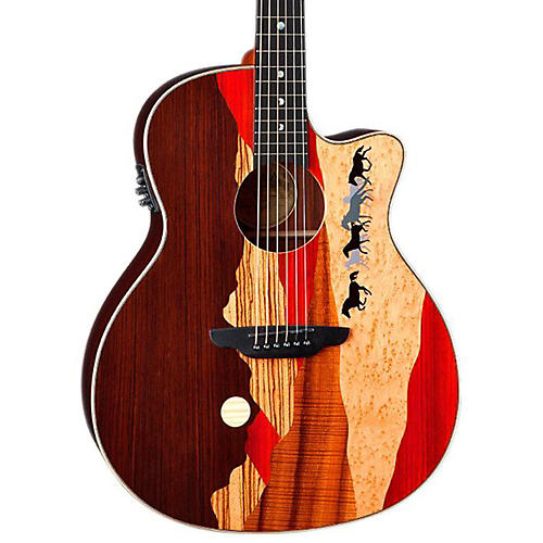 Luna Guitars Vista Mustang Rosewood Back and Sides Acoustic-Electric Guitar thumbnail
