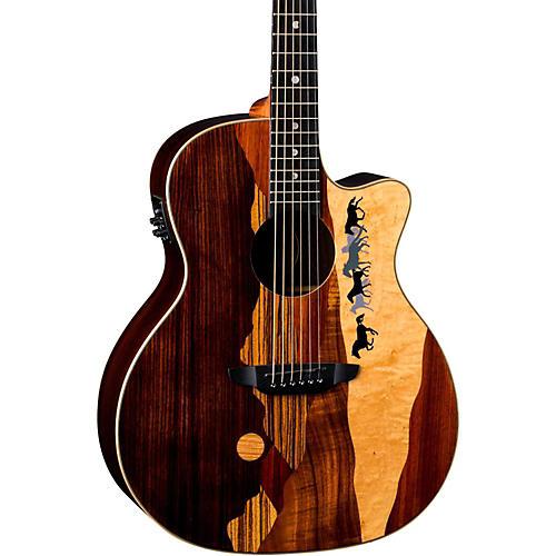 Luna Guitars Vista Mustang Tropical Wood RSW Back Acoustic-Electric Guitar thumbnail