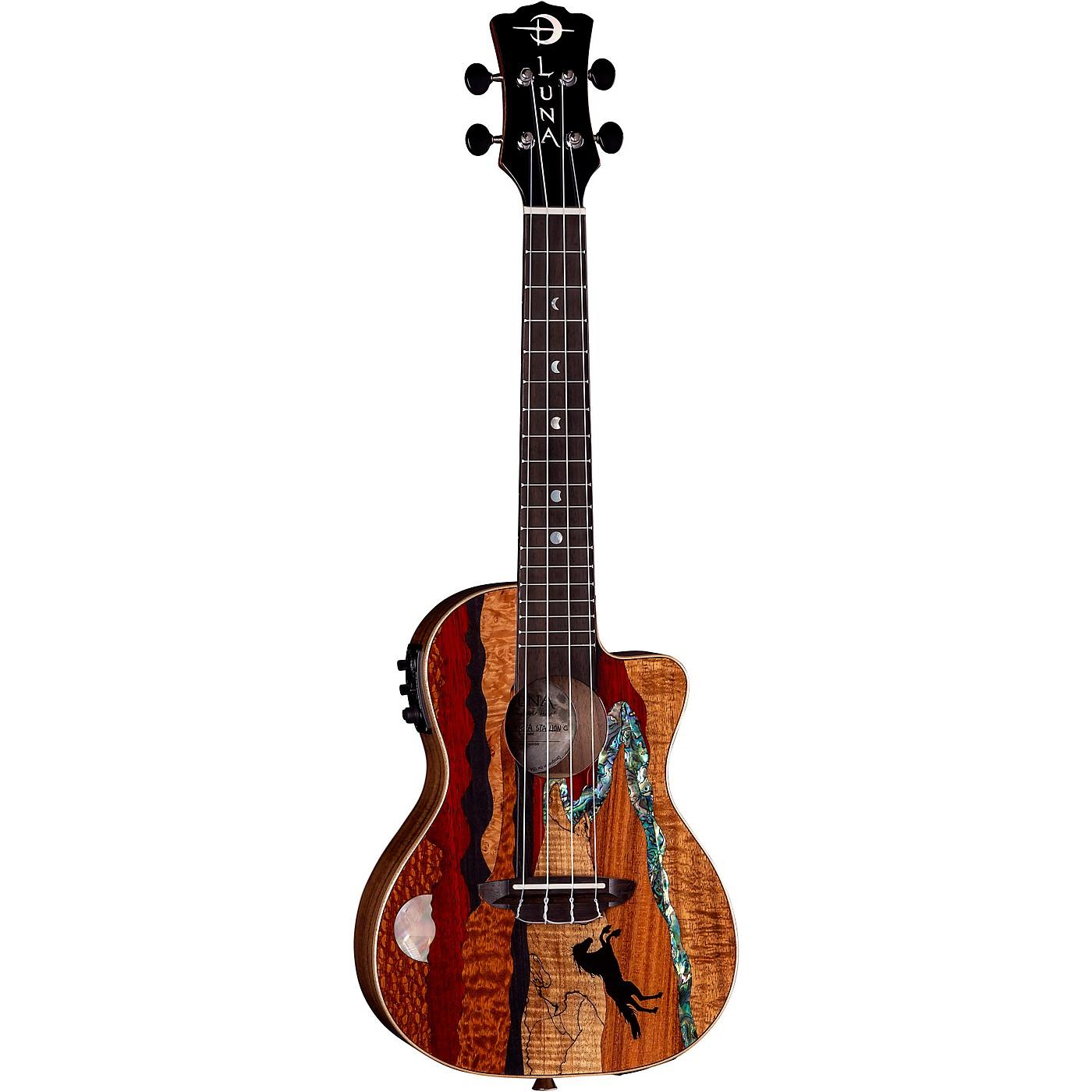 Luna Guitars Vista Stallion Concert Acoustic-Electric Ukulele thumbnail