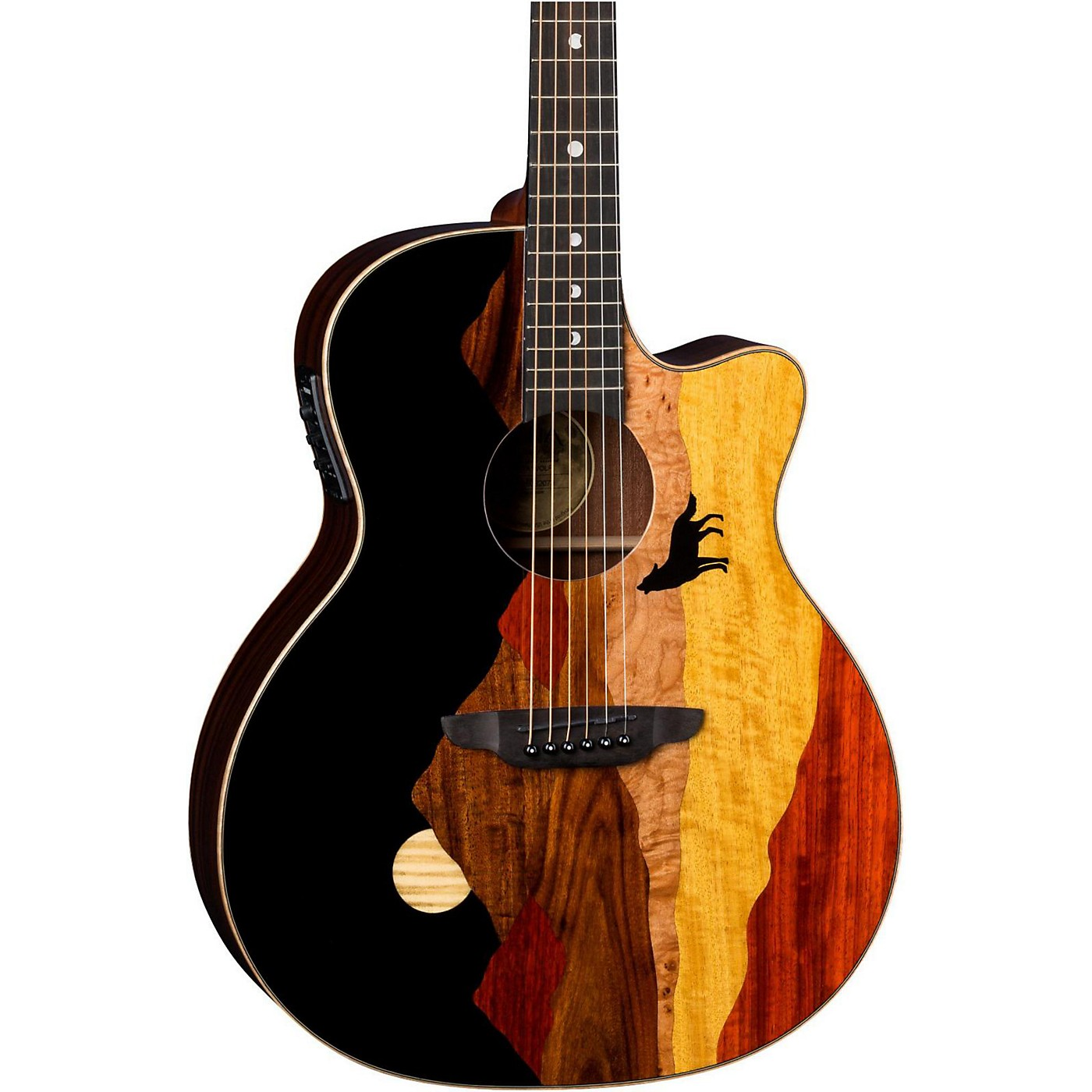 Luna Guitars Vista Wolf Acoustic-Electric Guitar thumbnail
