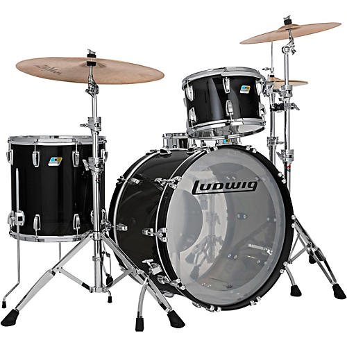Ludwig Vistalite 3-Piece Pro Beat Shell Pack with 24 in. Bass Drum thumbnail