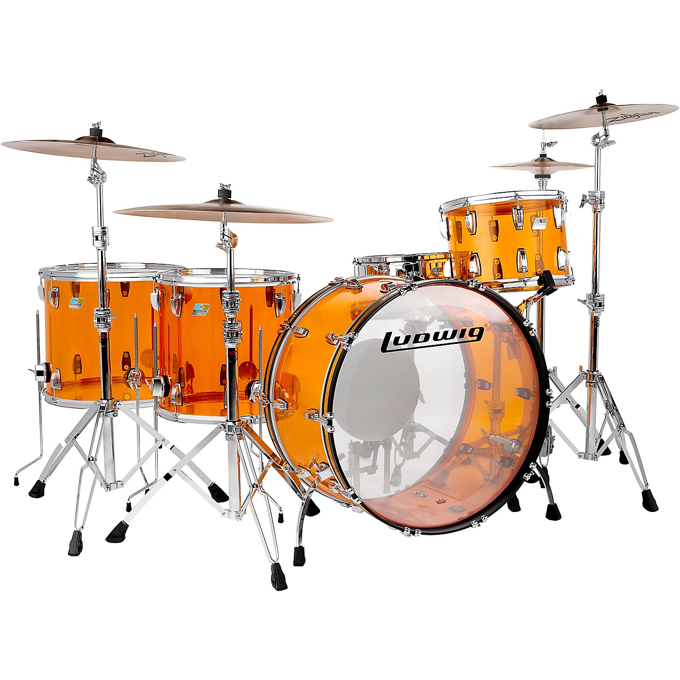 Ludwig Vistalite Zep 5-Piece Shell Pack thumbnail