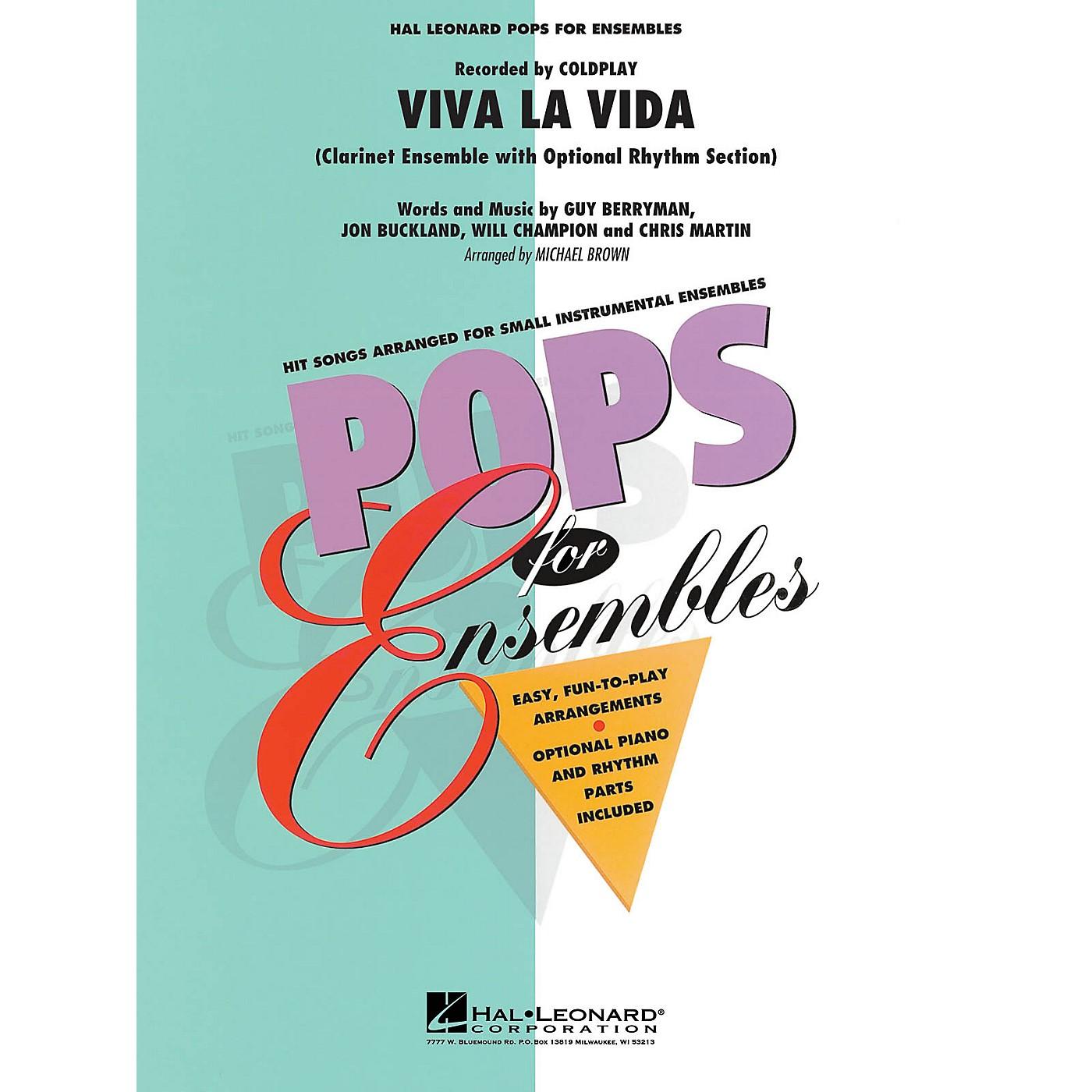 Hal Leonard Viva La Vida (Clarinet Ensemble with Optional Rhythm Section) Concert Band Level 2-3 thumbnail