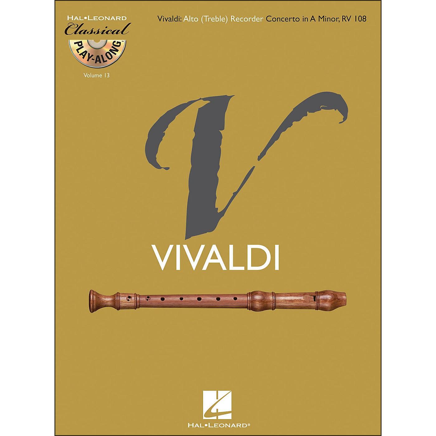 Hal Leonard Vivaldi: Alto (Treble) Recorder Concerto In A Minor Rv 108Class Play-Along Vol.13 Book/CD thumbnail
