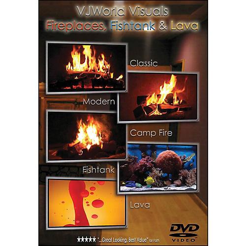 Hal Leonard Vj World Visuals Fireplaces, Fishtank & Lava DVD-thumbnail