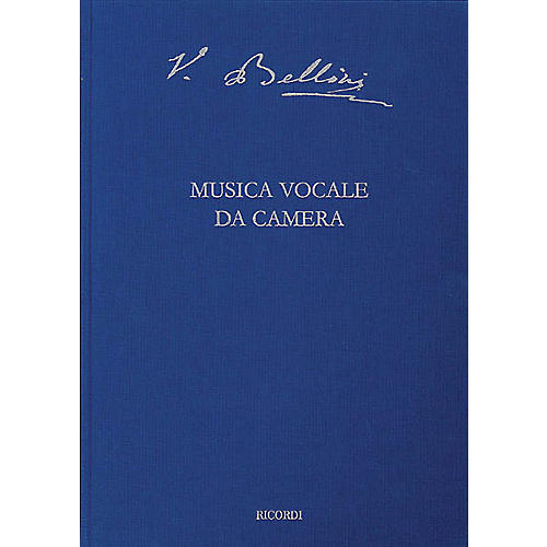 Ricordi Vocal Chamber Music Critical Ed Full Score Hardbound with critical commentary by Bellini Edited by Steffan thumbnail