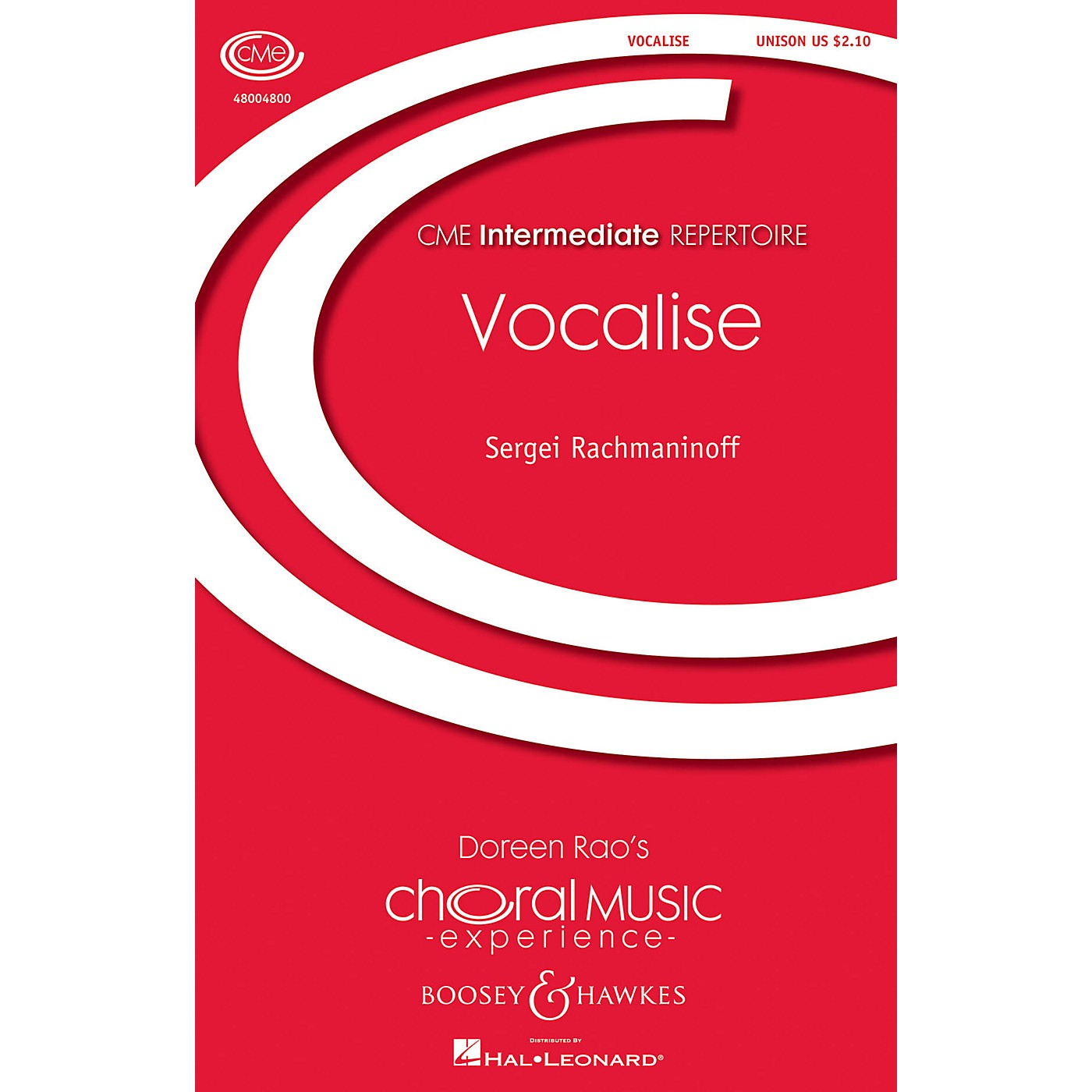 Boosey and Hawkes Vocalise Op. 34, No. 14 Unison Treble composed by Sergei Rachmaninoff arranged by Doreen Rao thumbnail