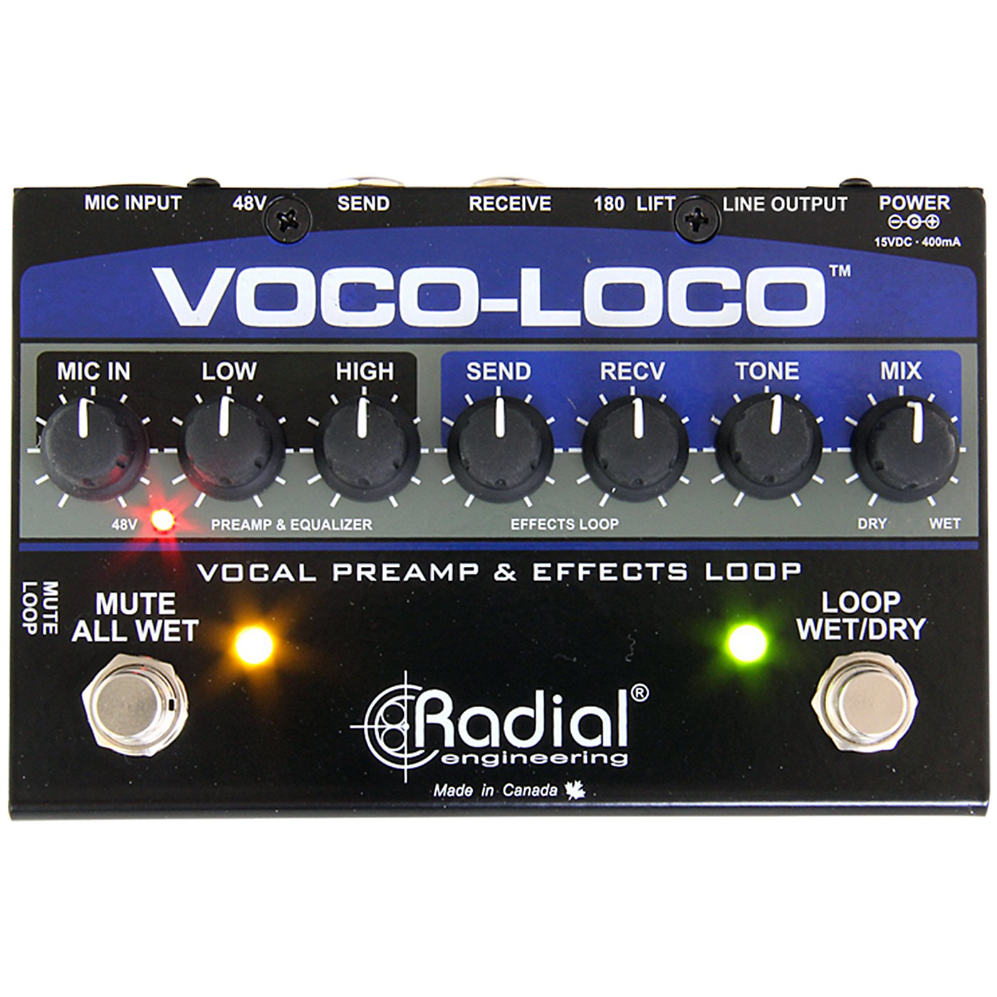 Radial Engineering Voco-Loco Vocal Preamp and Effect Switcher thumbnail