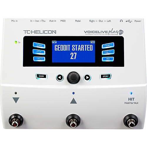TC Helicon VoiceLive Play GTX Guitar/Vocal Harmony and Effects Pedal thumbnail