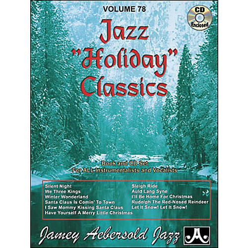 Jamey Aebersold Volume 78 - Jazz Holiday Classics - Play-Along Book and CD Set thumbnail
