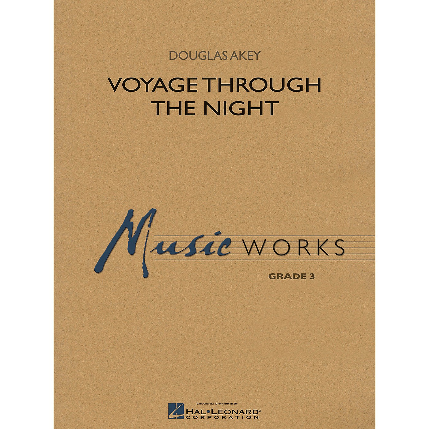 Hal Leonard Voyage Through the Night Concert Band Level 3 Composed by Douglas Akey thumbnail