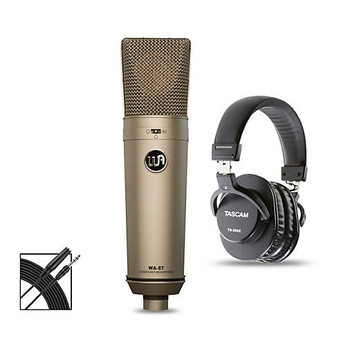 Warm Audio WA-87 Bundle with Tascam TH-200X Studio Headphones thumbnail