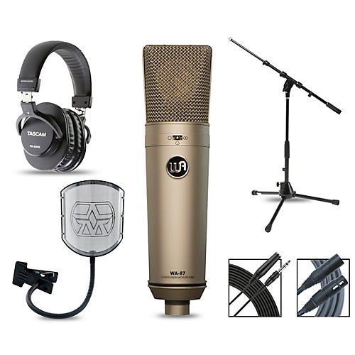 Warm Audio WA-87 Complete Package with Tascam TH-200X Studio Headphones thumbnail