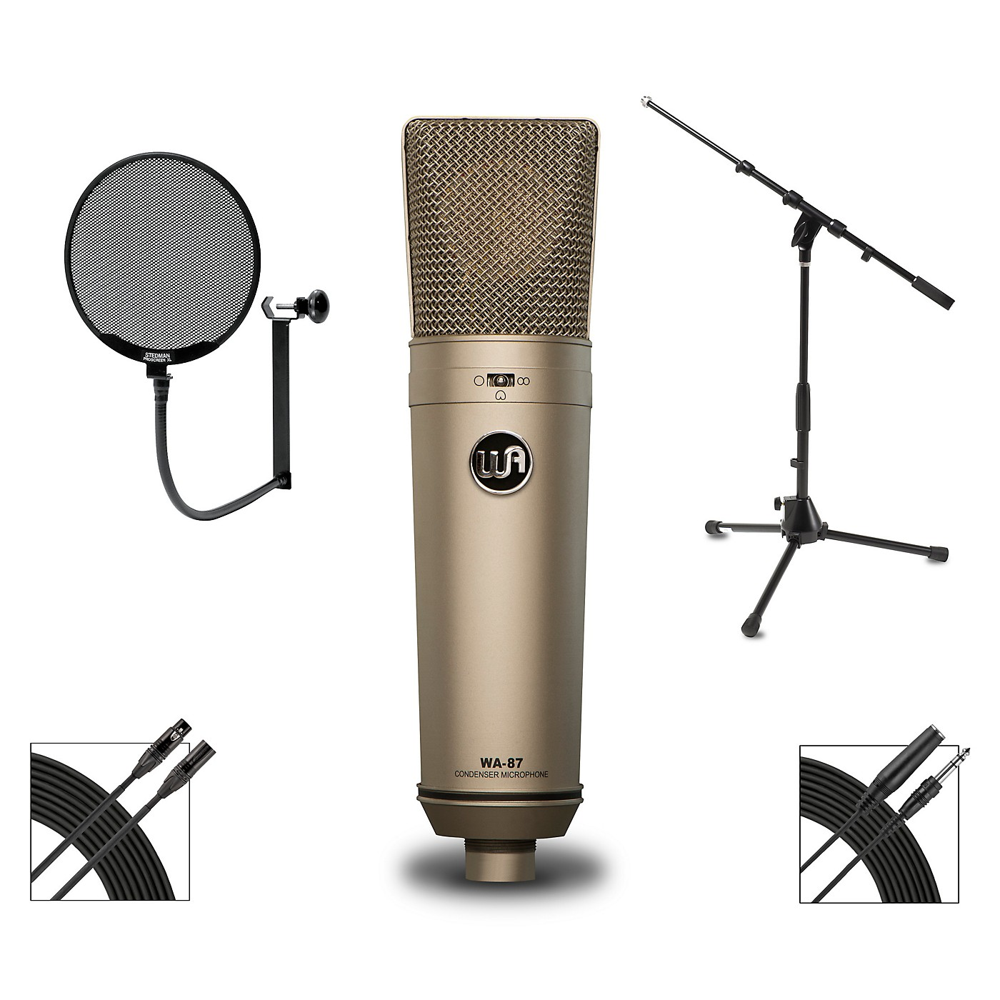 Warm Audio WA-87 Microphone Package With Proscreen XL Pop Filter thumbnail