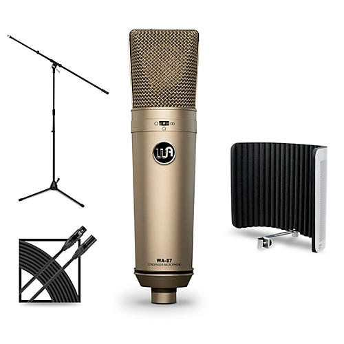 Warm Audio WA-87 Package with Sterling Audio VMS Vocal Microphone Shield thumbnail
