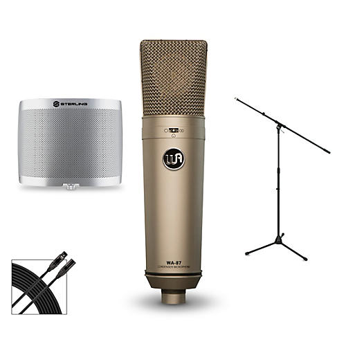Warm Audio WA-87 Package with Sterling Audio Vocal Microphone Shield thumbnail