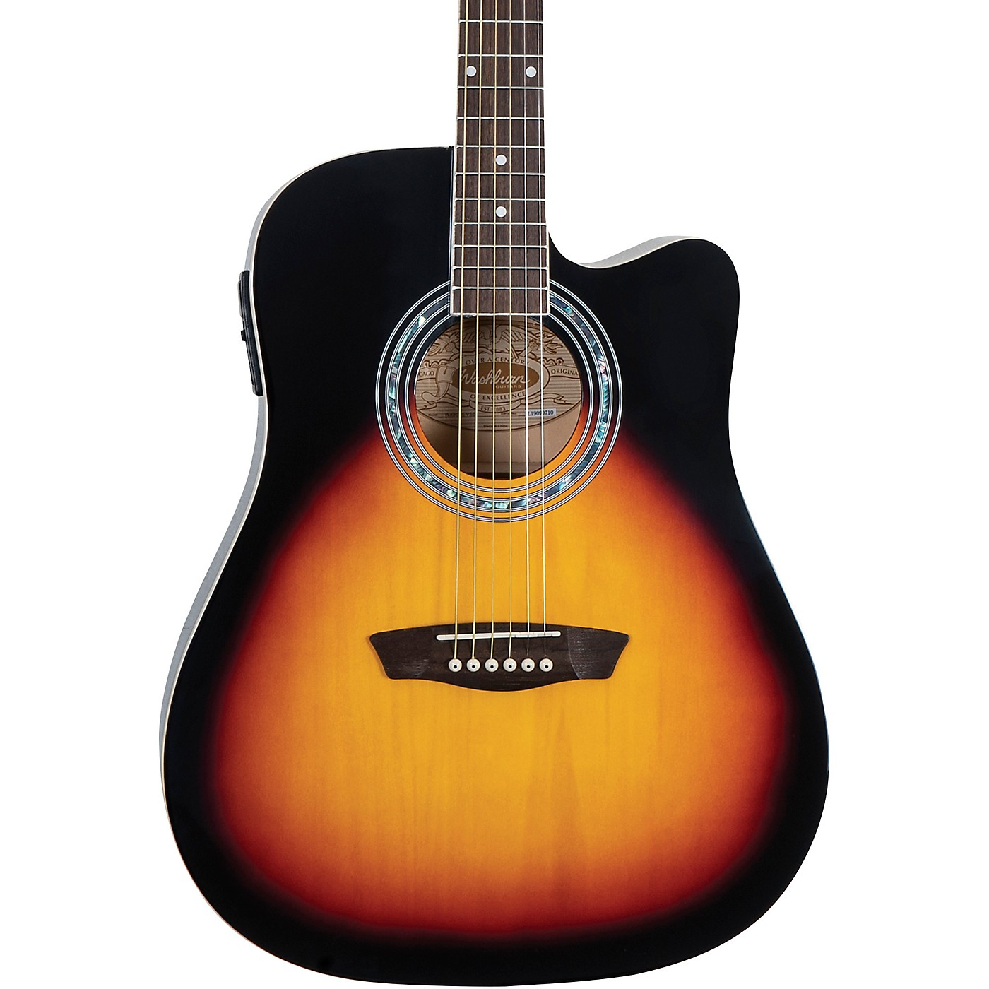 Washburn WA90CE Dreadnought Acoustic Electric Guitar thumbnail