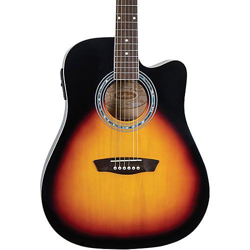 Washburn WA90CE Dreadnought Acoustic Electric Guitar thumbnail