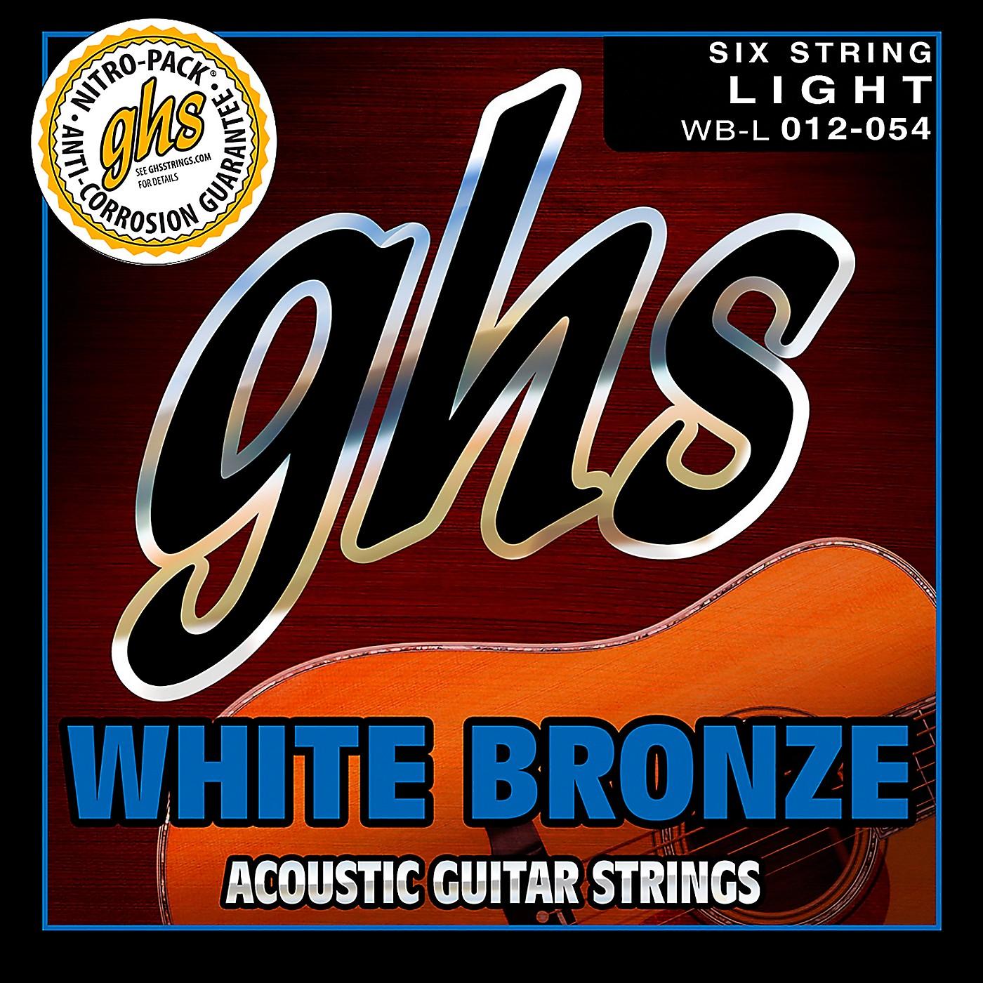 GHS WBL White Bronze Light Acoustic-Electric Guitar Strings thumbnail
