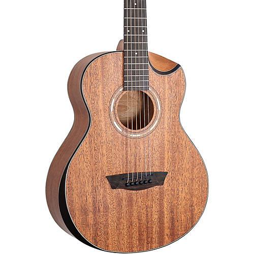 Washburn WCGM12K-D Mini Comfort Acoustic 6 String Guitar Natural thumbnail