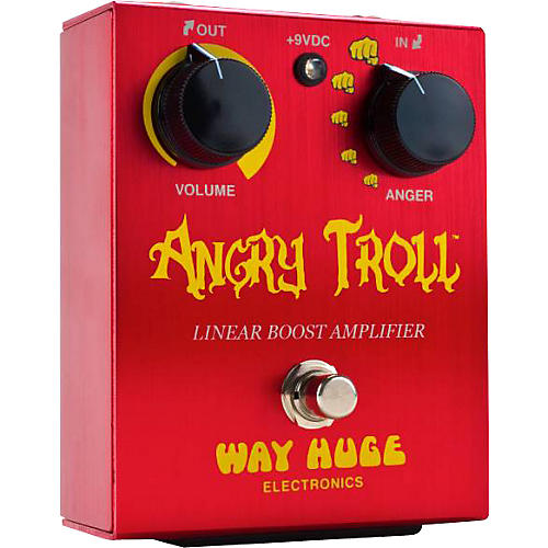 Way Huge Electronics WHE101 Angry Troll Boost Guitar Effects Pedal-thumbnail