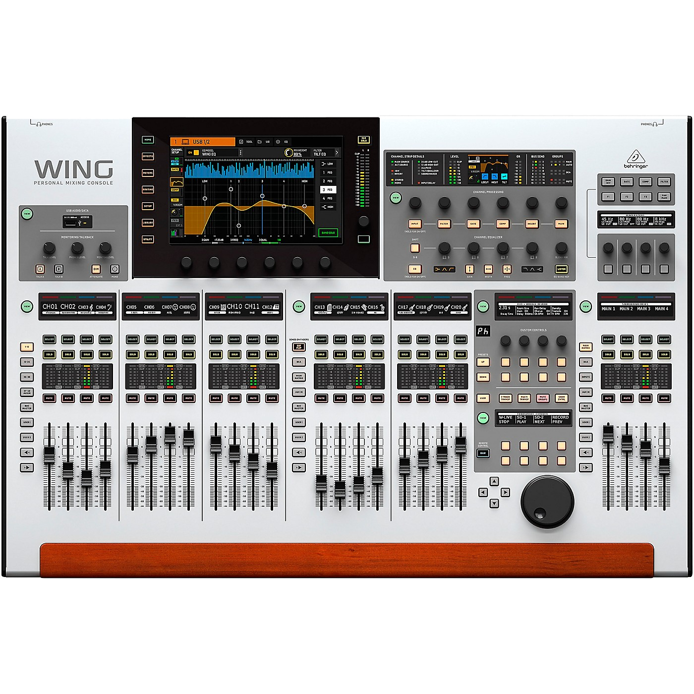 Behringer WING 48-Channel Digital Mixer with 24-Fader Control Surface and 10