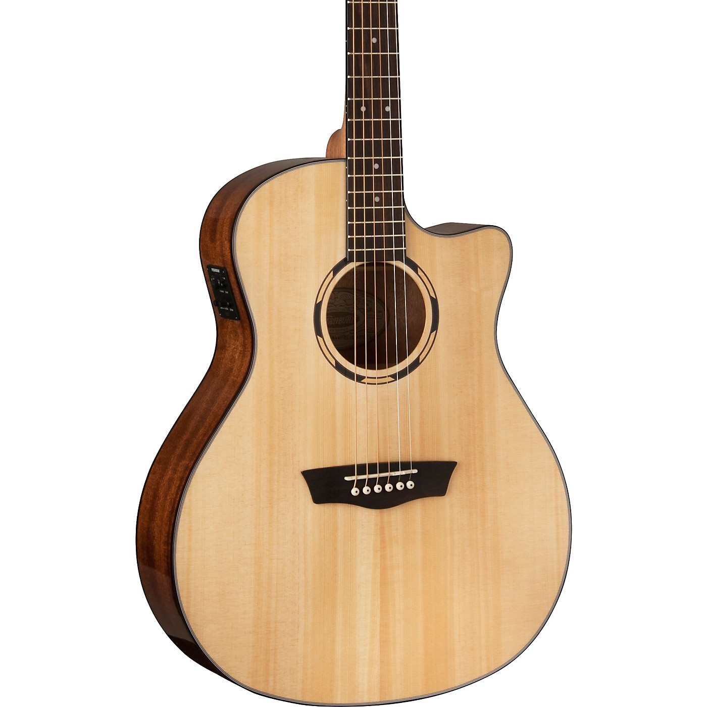 Washburn WLO10SCE Woodline 10 Series Acoustic-Electric Guitar thumbnail