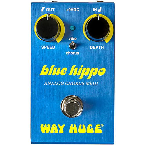 Way Huge Electronics WM61 Mini Blue Hippo Analog Chorus Effects Pedal thumbnail