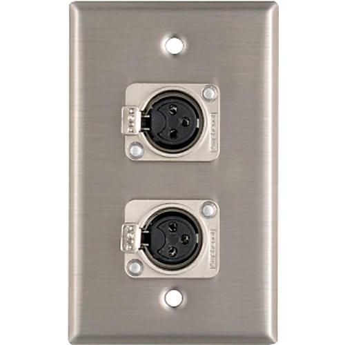 Pro Co WP1013 Dual XLR Female Wall Plate thumbnail