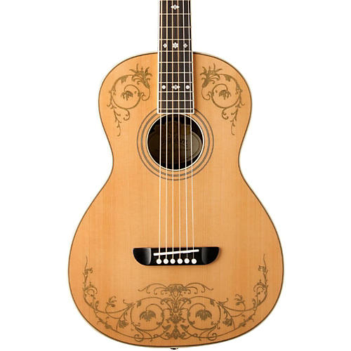 Washburn WP5234S Parlor Acoustic Guitar with Gold Leaf Design thumbnail
