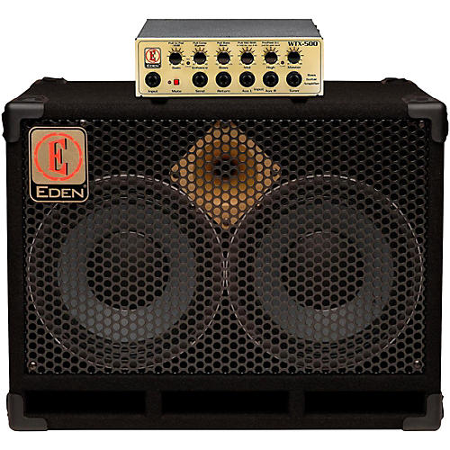 Eden WTX500 Bass Amp Head Gold with D210XST 2x10 Cab 4 ohm thumbnail