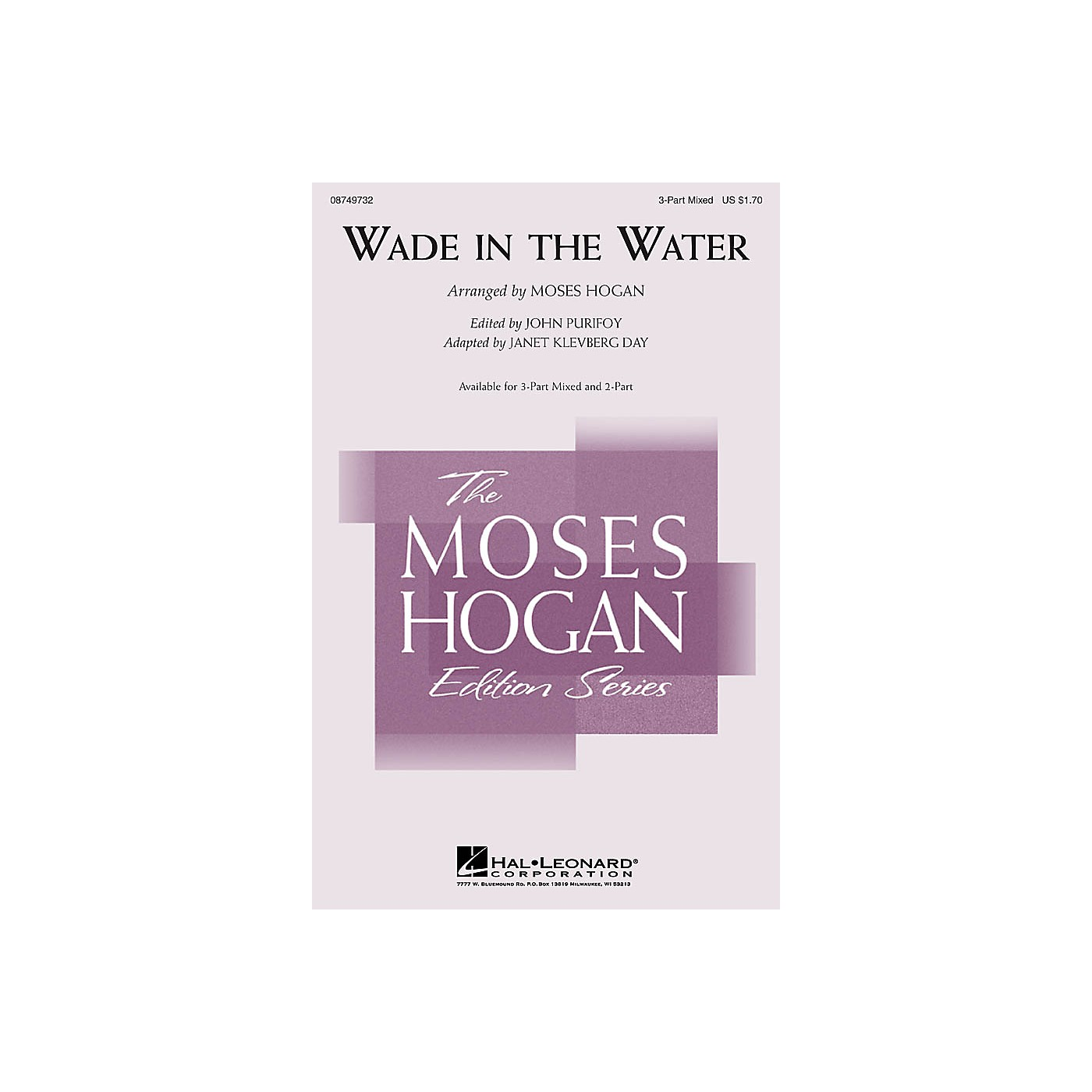 Hal Leonard Wade in the Water 3-Part Mixed arranged by Moses Hogan thumbnail