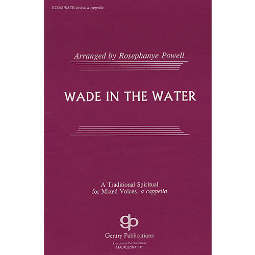 Fred Bock Music Wade in the Water SATB DV A Cappella arranged by Rosephanye Powell thumbnail