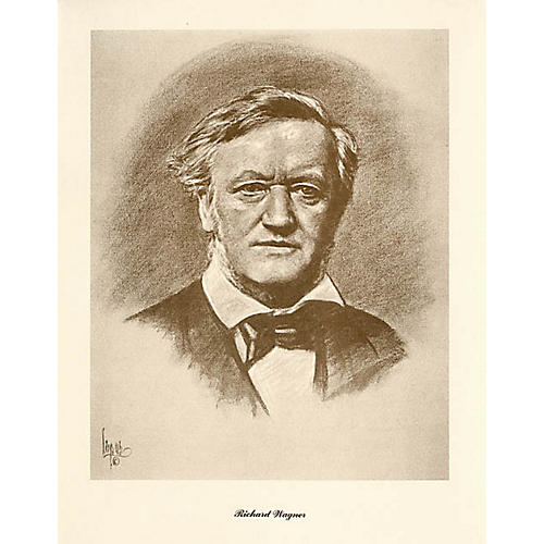 Music Sales Wagner (Lupas Small Portrait Poster) Music Sales America Series thumbnail