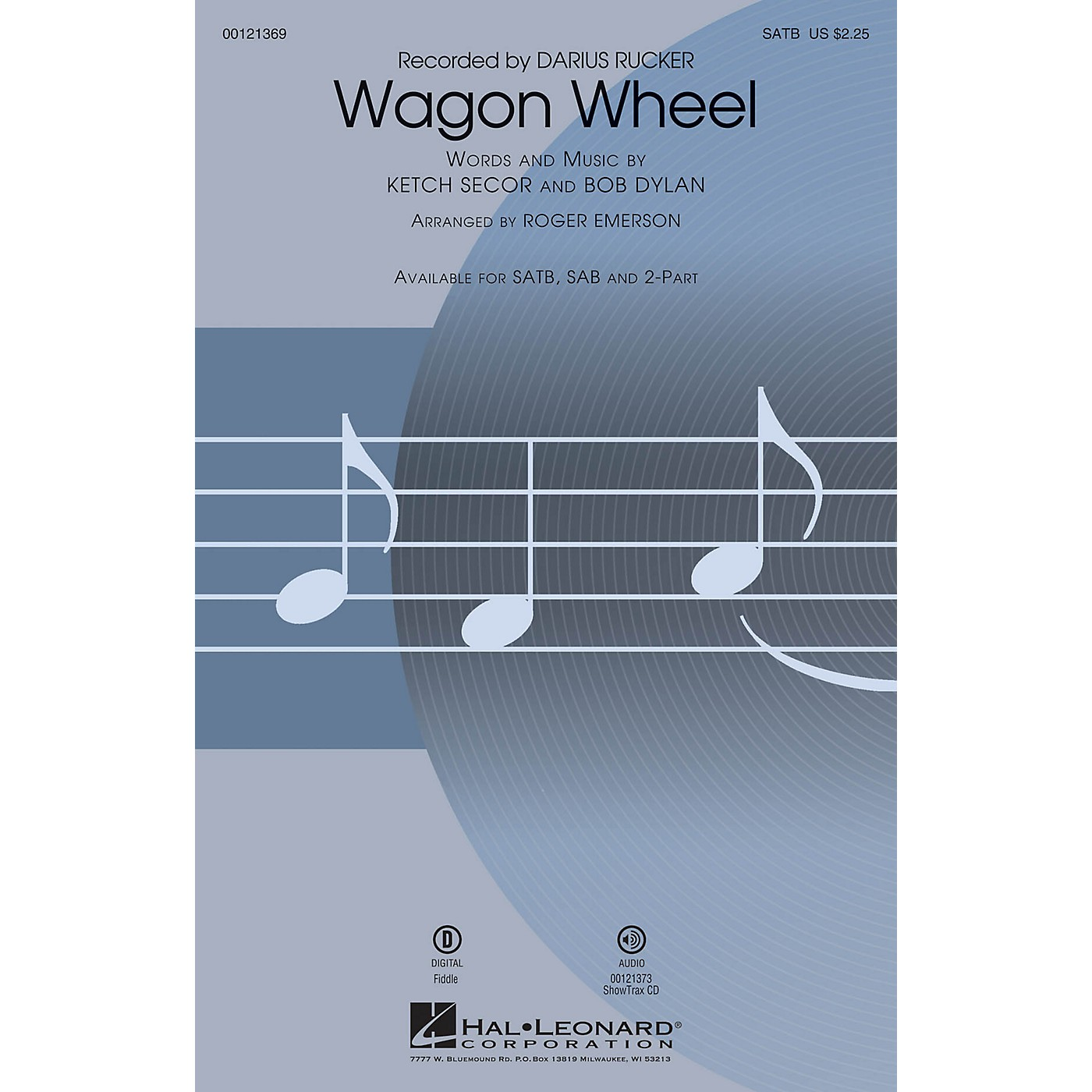 Hal Leonard Wagon Wheel 2-Part by Darius Rucker Arranged by Roger Emerson thumbnail