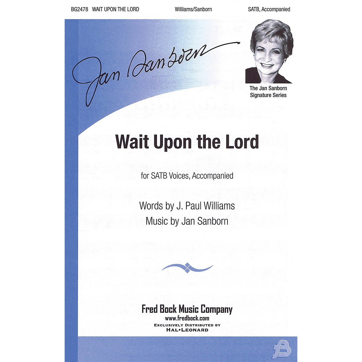 Fred Bock Music Wait Upon the Lord SATB composed by J. Paul Williams thumbnail