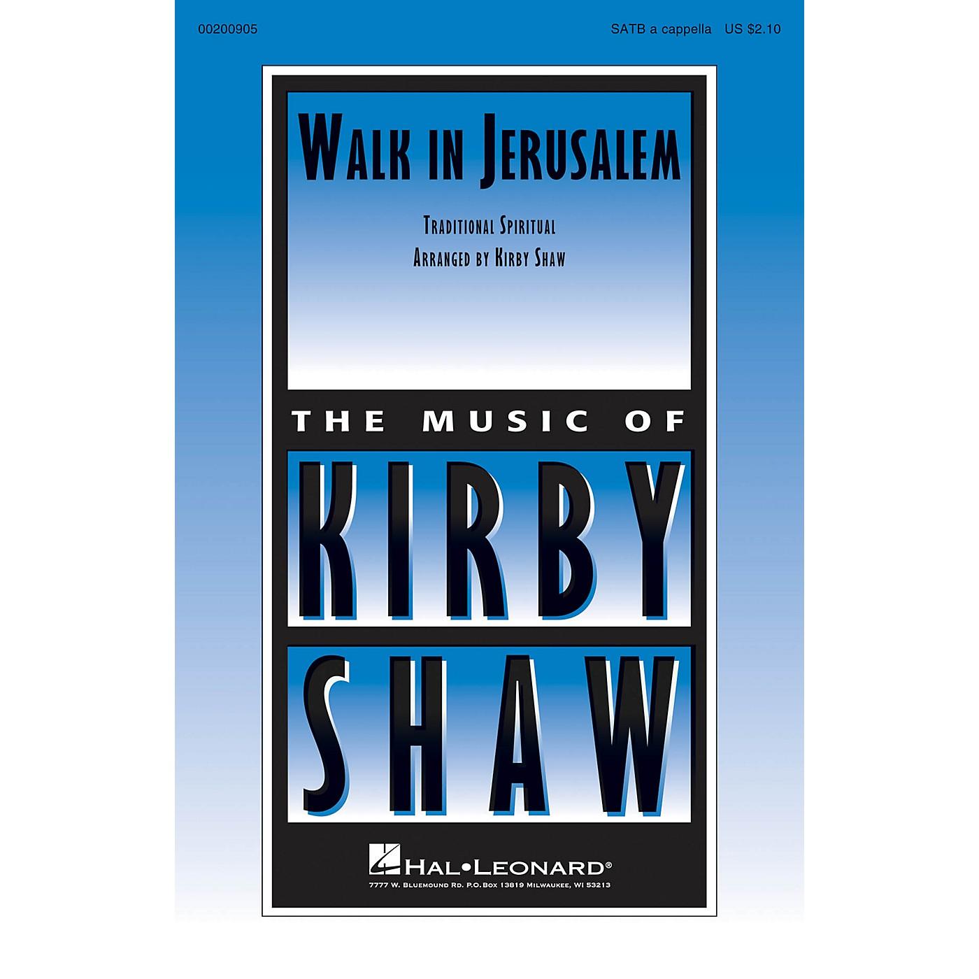 Hal Leonard Walk in Jerusalem SATB a cappella arranged by Kirby Shaw thumbnail