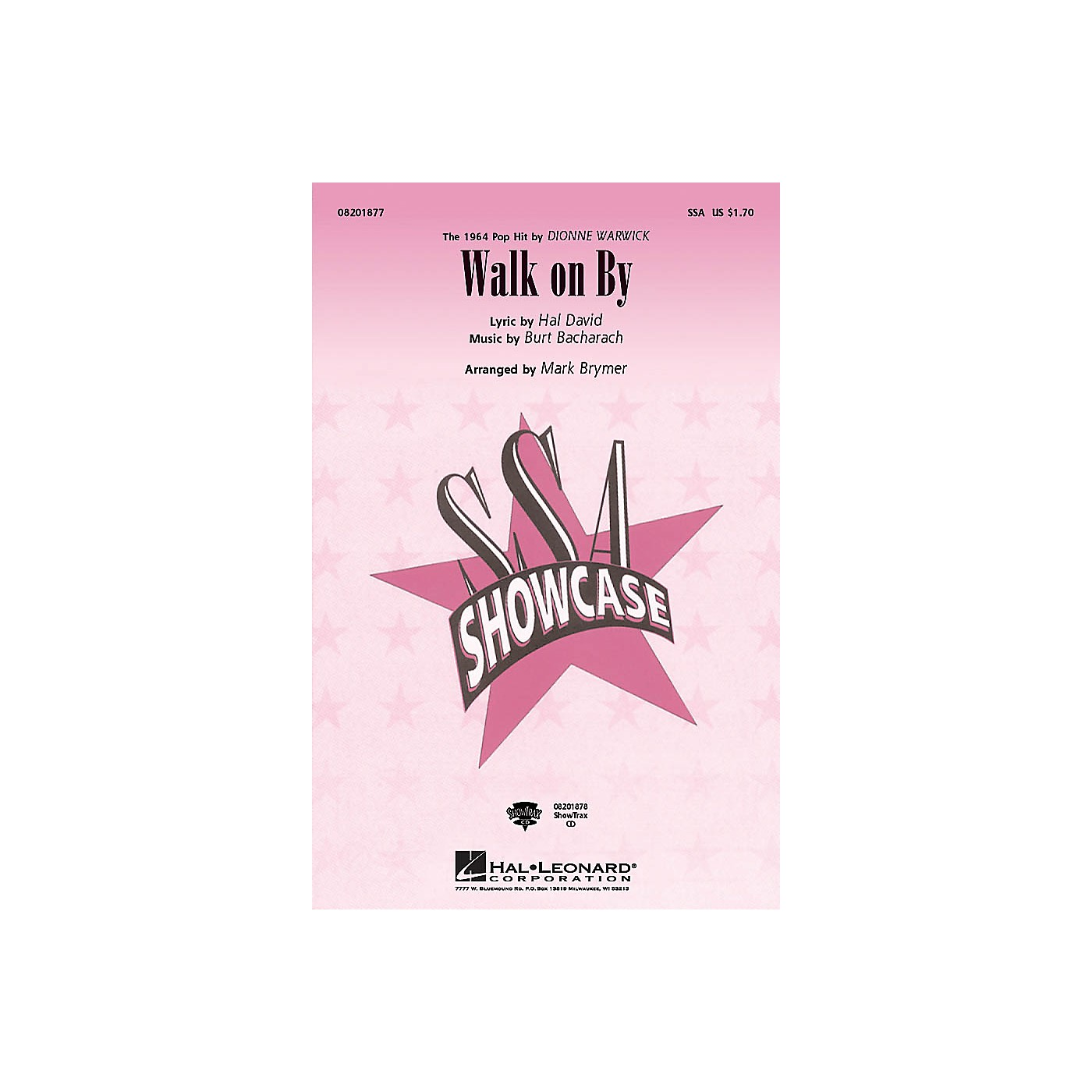 Hal Leonard Walk on By ShowTrax CD by Dionne Warwick Arranged by Mark Brymer thumbnail