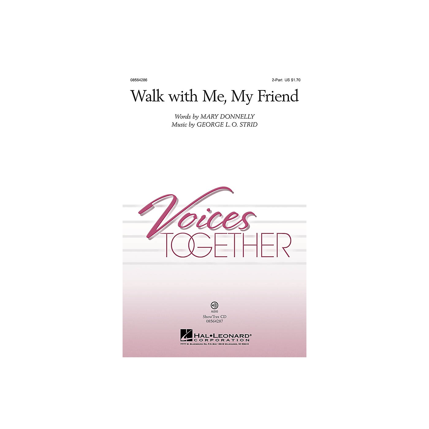 Hal Leonard Walk with Me, My Friend ShowTrax CD Composed by Mary Donnelly thumbnail