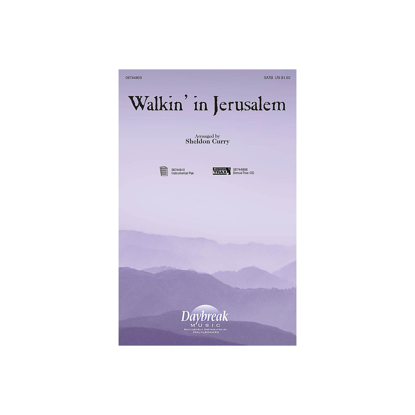 Daybreak Music Walkin' in Jerusalem SATB arranged by Sheldon Curry thumbnail