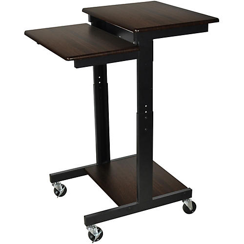 H. Wilson Walnut Mobile Adjustable Workstation thumbnail