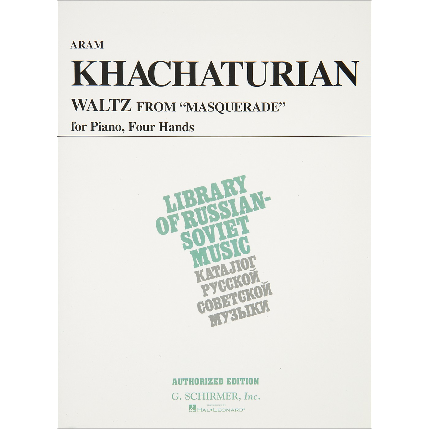 Hal Leonard Waltz From Masquerade Piano 4 Hands Vaap Edition By Khachaturian thumbnail