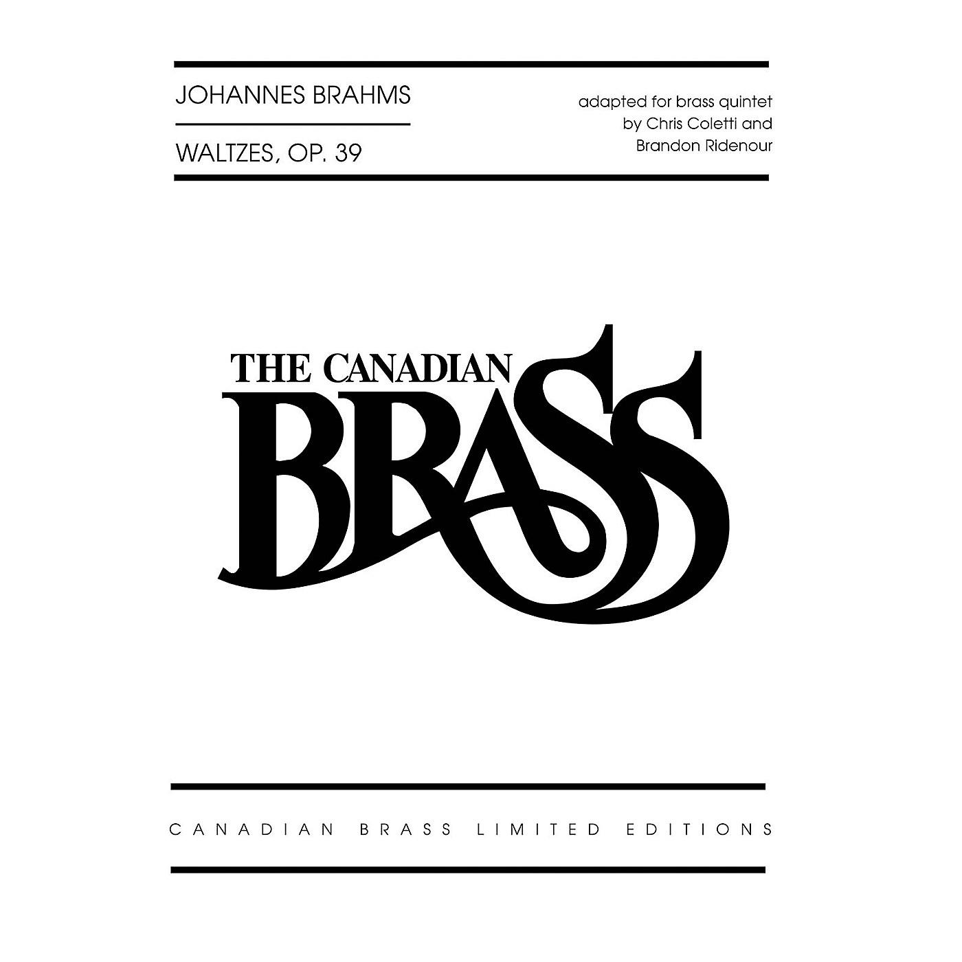 Canadian Brass Waltzes, Op. 39 Brass Ensemble Series by Johannes Brahms Arranged by Brandon Ridenour thumbnail