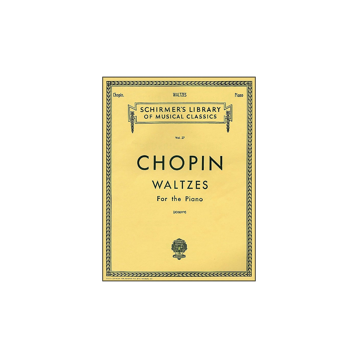 G. Schirmer Waltzes for The Piano By Chopin thumbnail