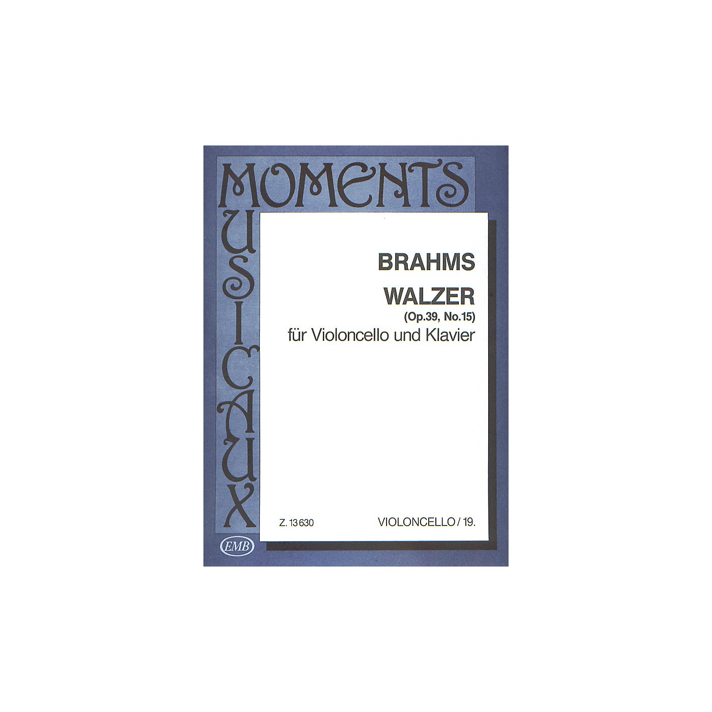 Editio Musica Budapest Walzer Op.39#15-vcl/pno EMB Series by Johannes Brahms thumbnail