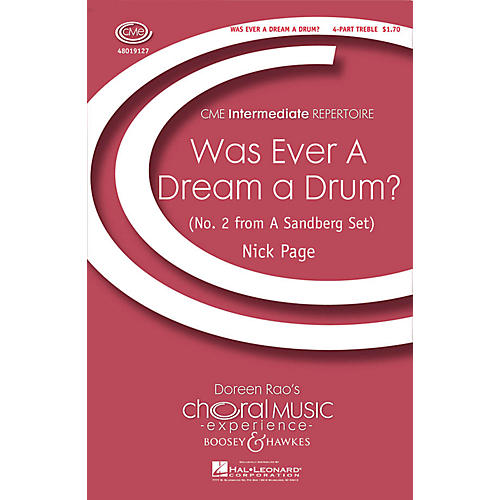 Boosey and Hawkes Was Ever a Dream a Drum? (CME Intermediate) 4 Part Treble composed by Nick Page thumbnail